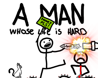 Illustration de A MAN - Whose life is hard